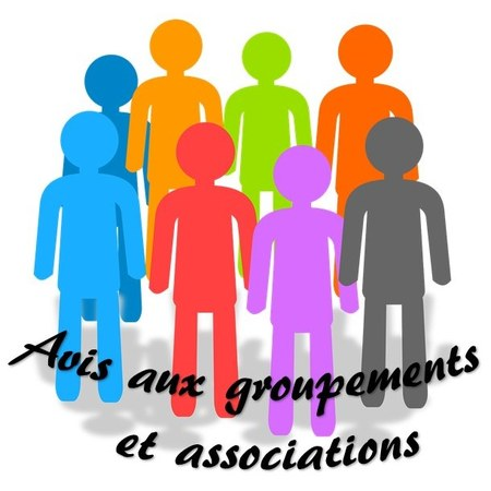 Avis important aux groupements et associations