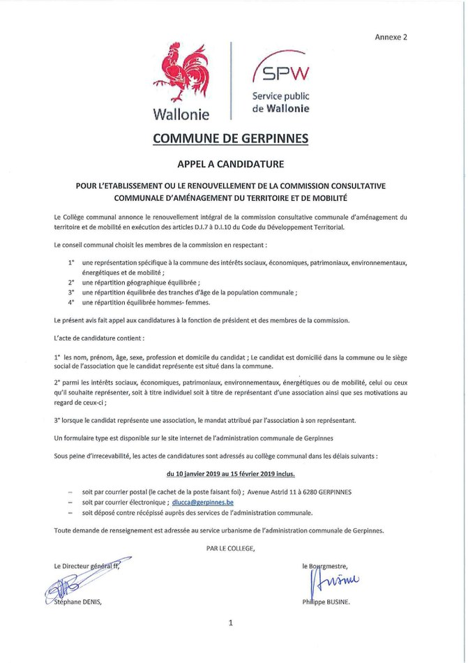 Candidature CCATM Page 1