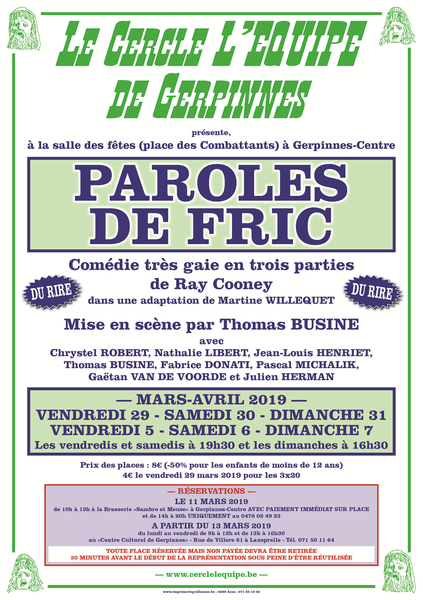 Paroles de fric   Theatre mars 2019