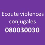ecoute violence conjugale
