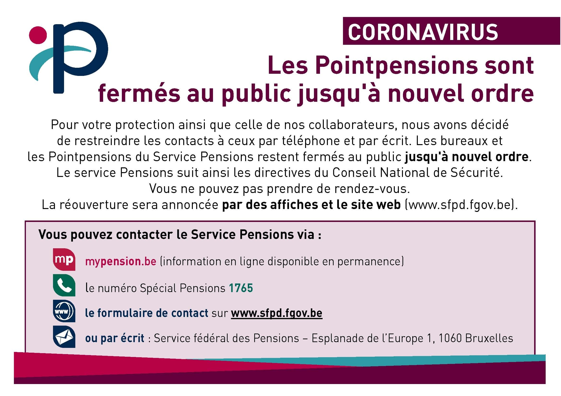 Point pension covid