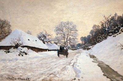 Paysage d'hiver C Monet